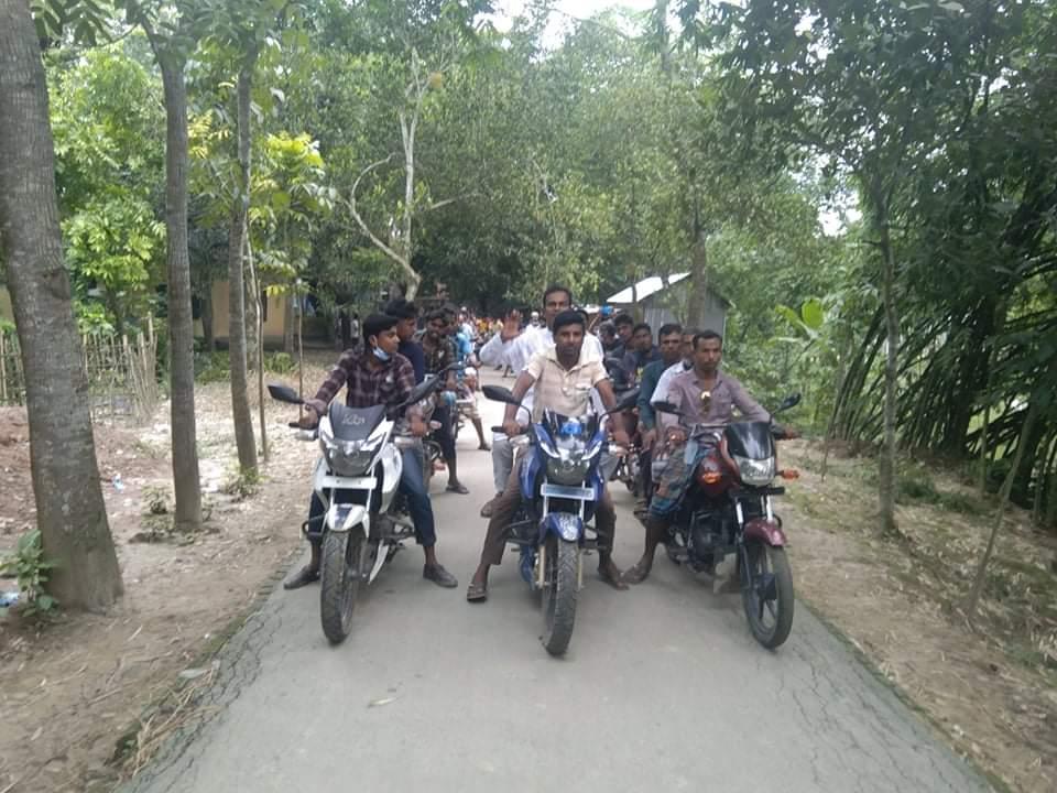 মধুপুরের মির্জাবাড়ী ইউনিয়নের সম্ভাব্য চেয়ারম্যান প্রার্থীর মোটর সাইকেল শোভা যাত্রা