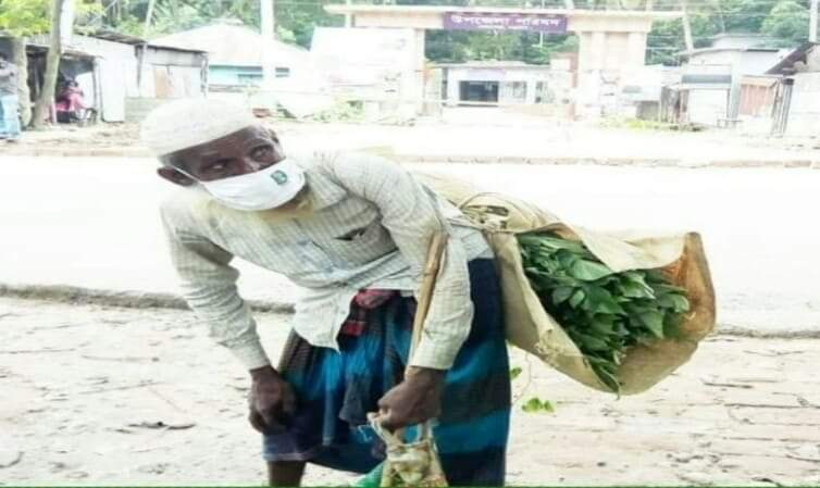 নড়াইলে জীবিকার টানে বৃদ্ধ মোসলেমের