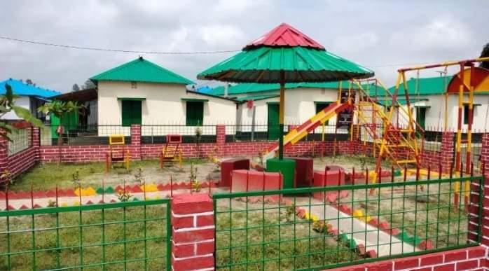 নওগাঁর আত্রাইয়ে আশ্রয়ন প্রকল্পে বিনোদনে শিশুদের  জন্য শিশুপার্ক নির্মাণ