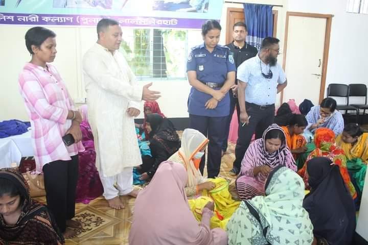 লালমনিরহাট জেলা পুলিশের  পুনাক- উদ্যোগে 'নকশি কাঁথা সেলাই প্রশিক্ষণ' অনুষ্ঠিত