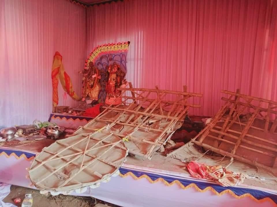 কাশিমপুর পুজামন্ডপ হামলা চালিয়েছে দূর্বত্তরা